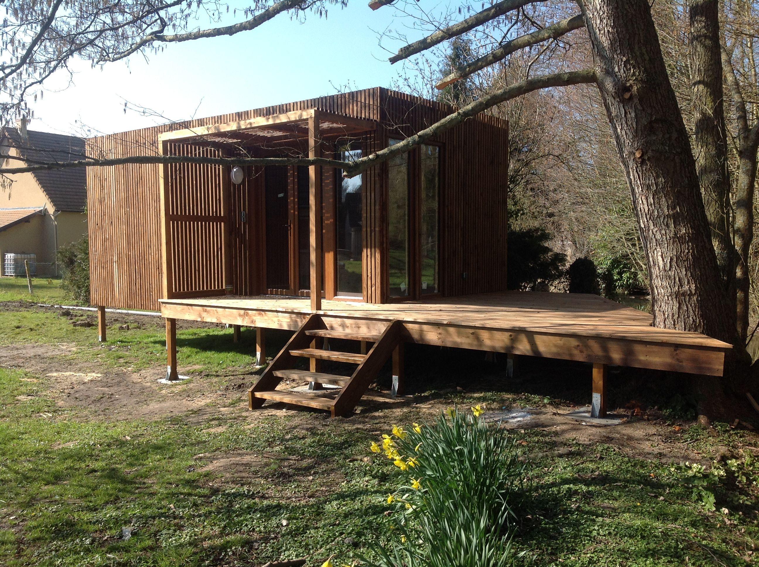 Studio de jardin greenkub habitat de jardin agrandissement