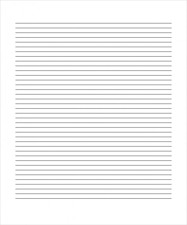 Blank Lined Paper  Temperature For Nd Grade