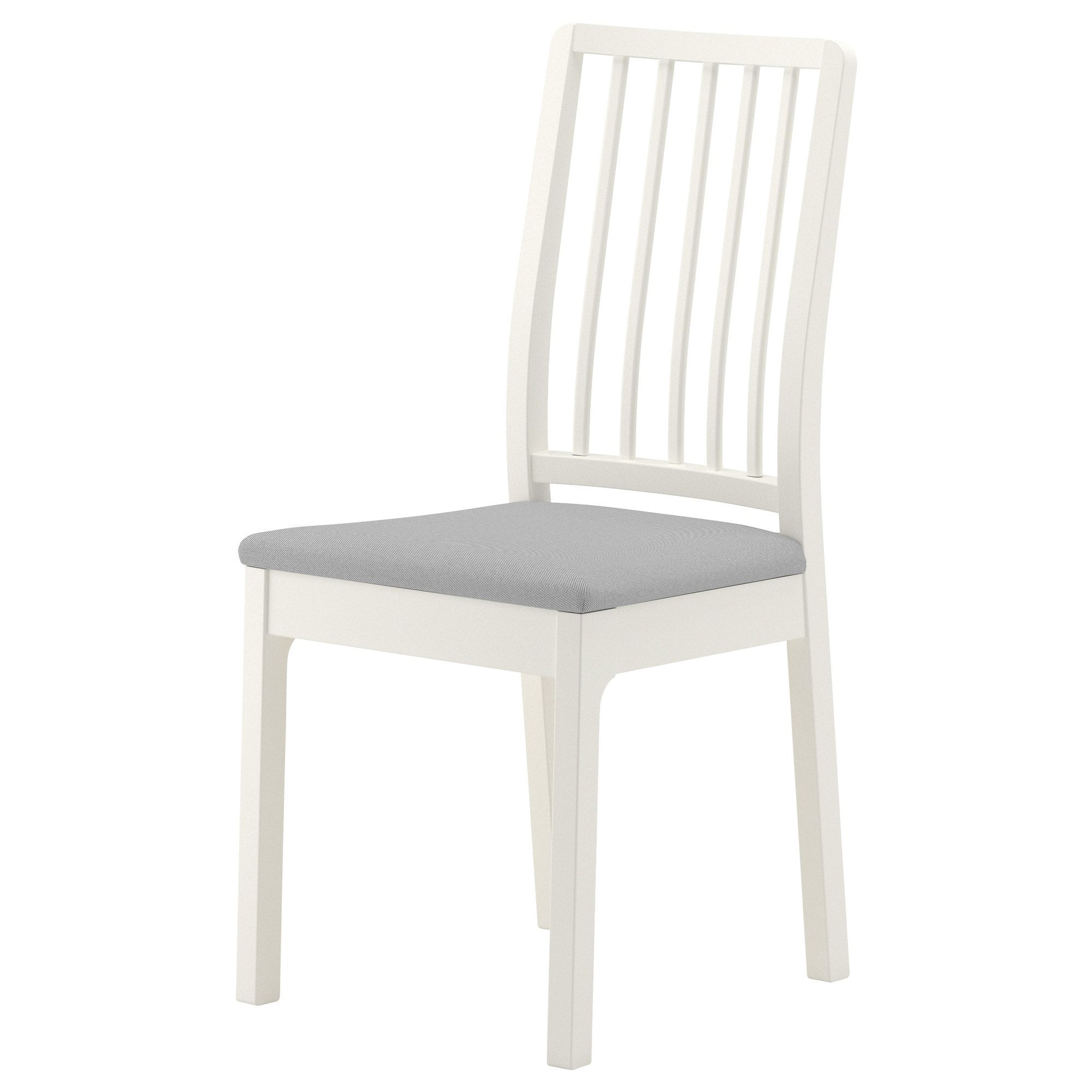 IKEA EKEDALEN White, Orrsta Light Gray Chair Lake