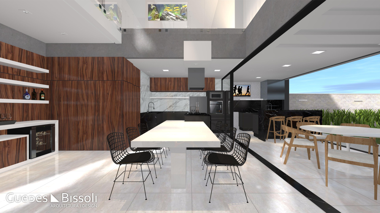 Projeto De Arquitetura E Design De Interiores Com Ambientes