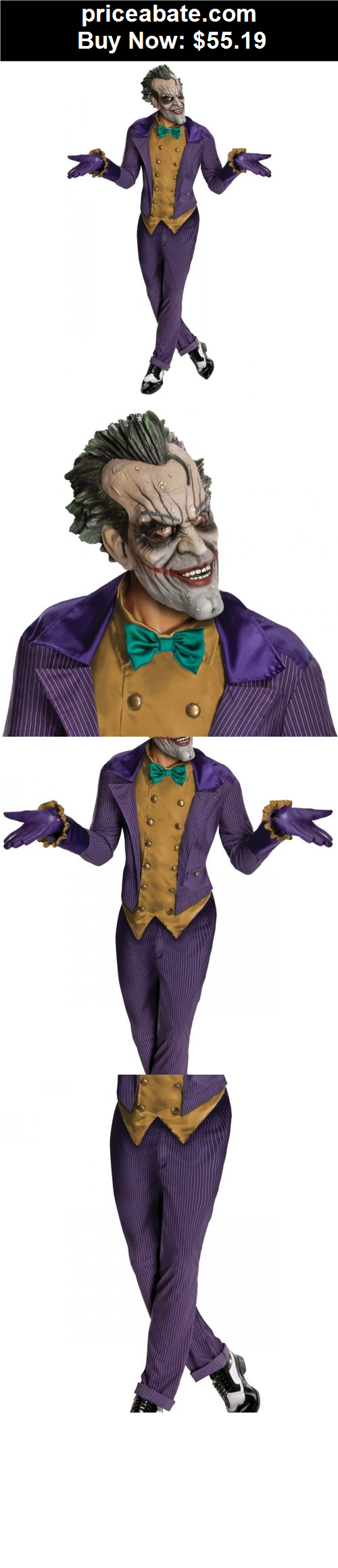 Men-Costumes Joker Costume Adult Batman Arkham City Superhero Villain Halloween Fancy Dress -  sc 1 st  Pinterest & Men-Costumes: Joker Costume Adult Batman Arkham City Superhero ...