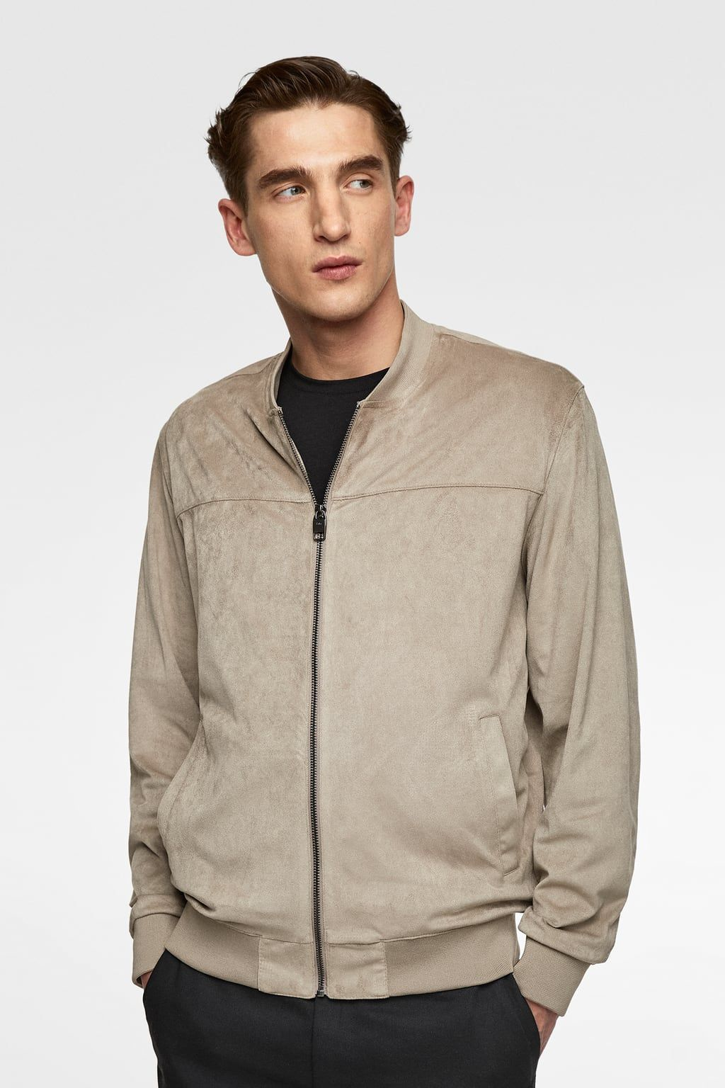 Image 2 Of Suede Effect Jacket From Zara Faux Suede Jacket Jackets Faux Suede