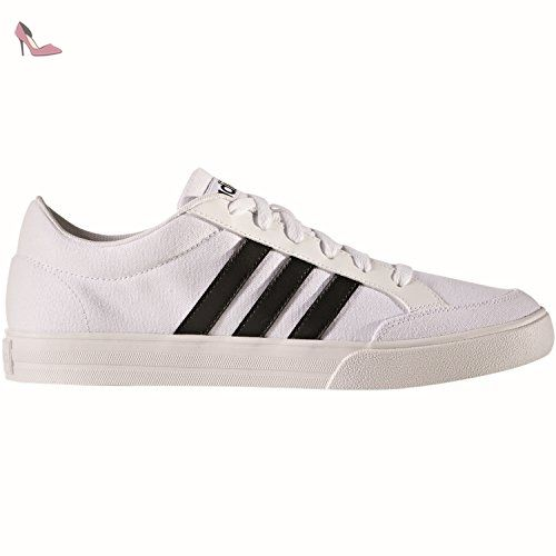 adidas Vs Set, Chaussures de Tennis Homme, Blanc Cassé (Ftwbla/Negbas/