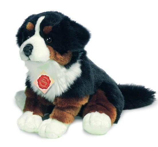 Berner Sennenhund, sitzend, niedliches Stofftier von Teddy.