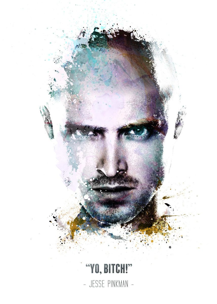 Displate Poster Breaking Bad's Jesse Pinkman and his quote. jesse #pinkman #yo #bitch #breaking… | Displate thumbnail