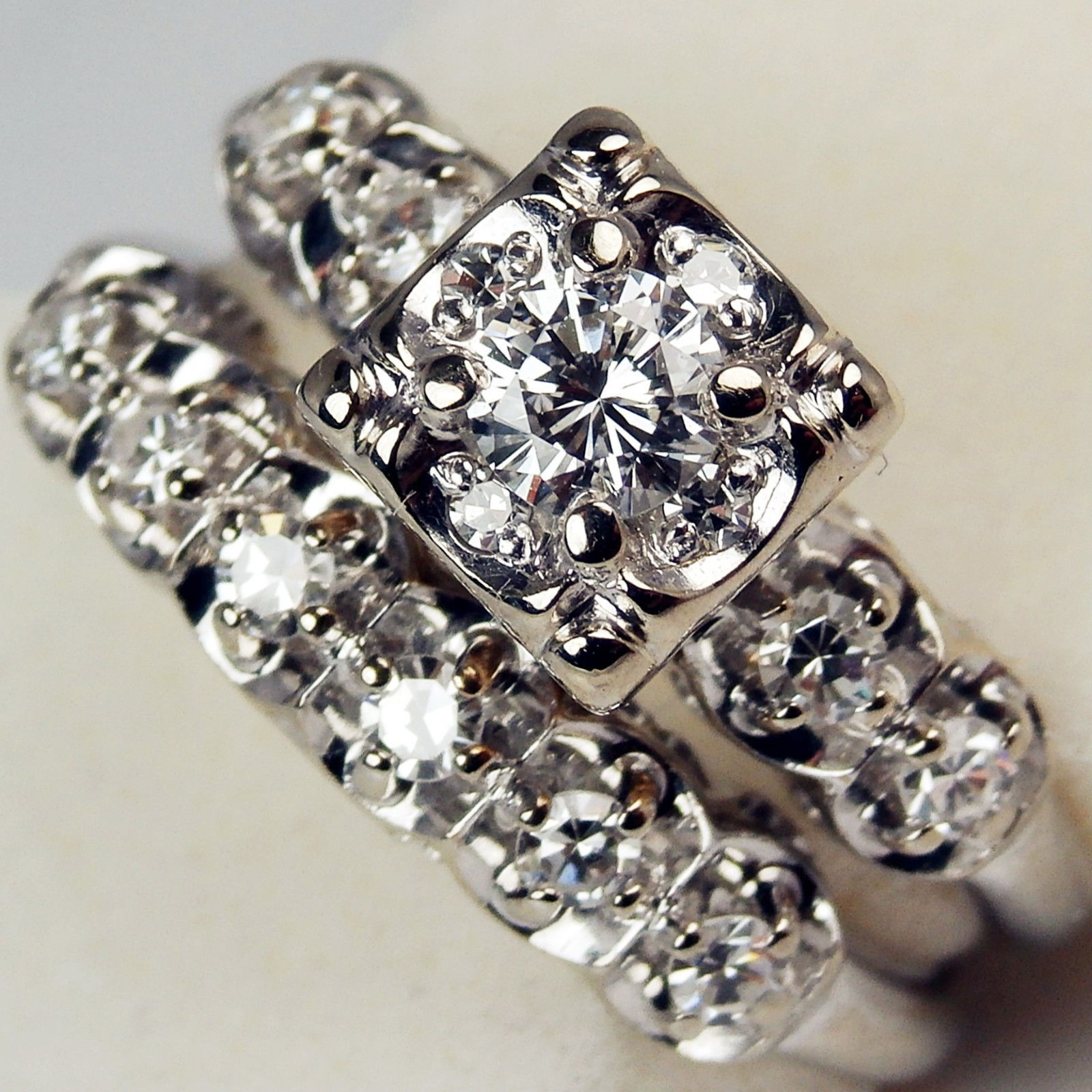 Keepsake 14k Gold Antique Illusion Diamond 35 Ct Engagement Ring