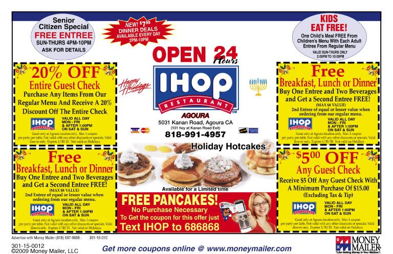 picture about Printable Ihop Coupon identify Ihop Coupon codes Â« paruku62 DYI Ihop coupon, Absolutely free printable