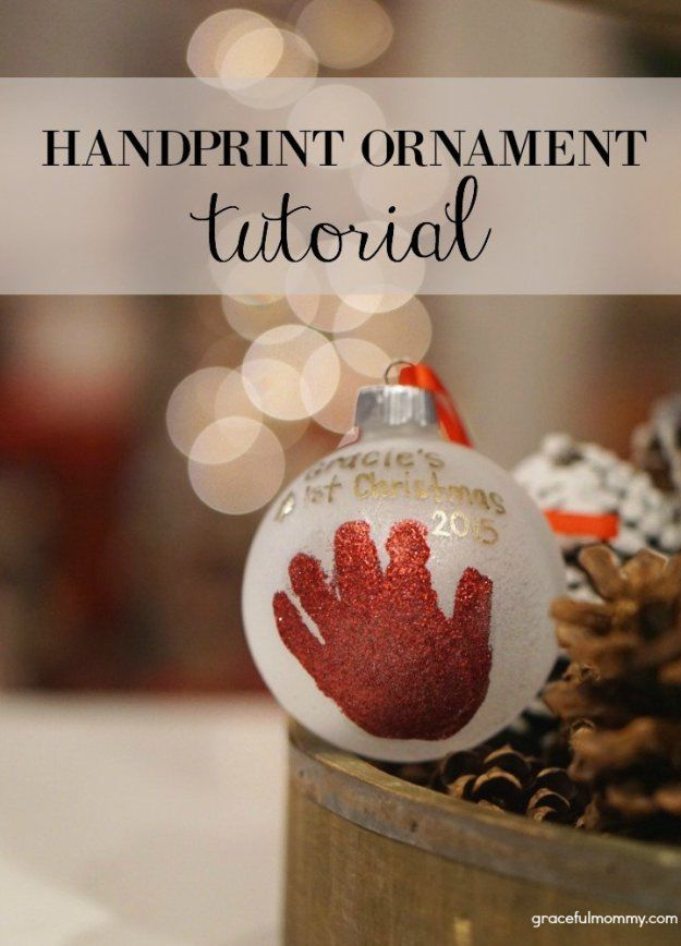 Handprint ornament tutorial gracefulmommy do it yourself recently i posted a bucket list for babys first christmas one of the activities on the list is to make a homemade ornament solutioingenieria Gallery