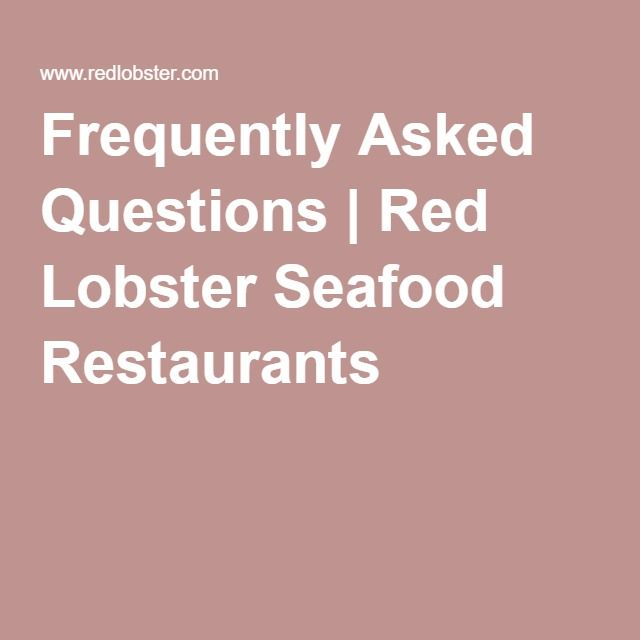 Frequently Asked Questions Red Lobster Seafood Restaurants - best of sample letter requesting donations for school fundraiser