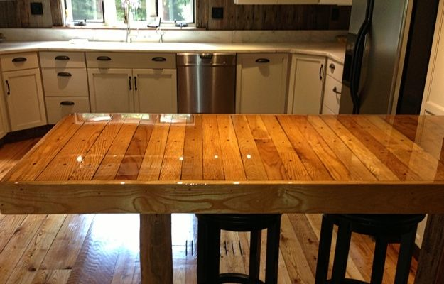 wood plank kitchen table - Kitchen Table Top