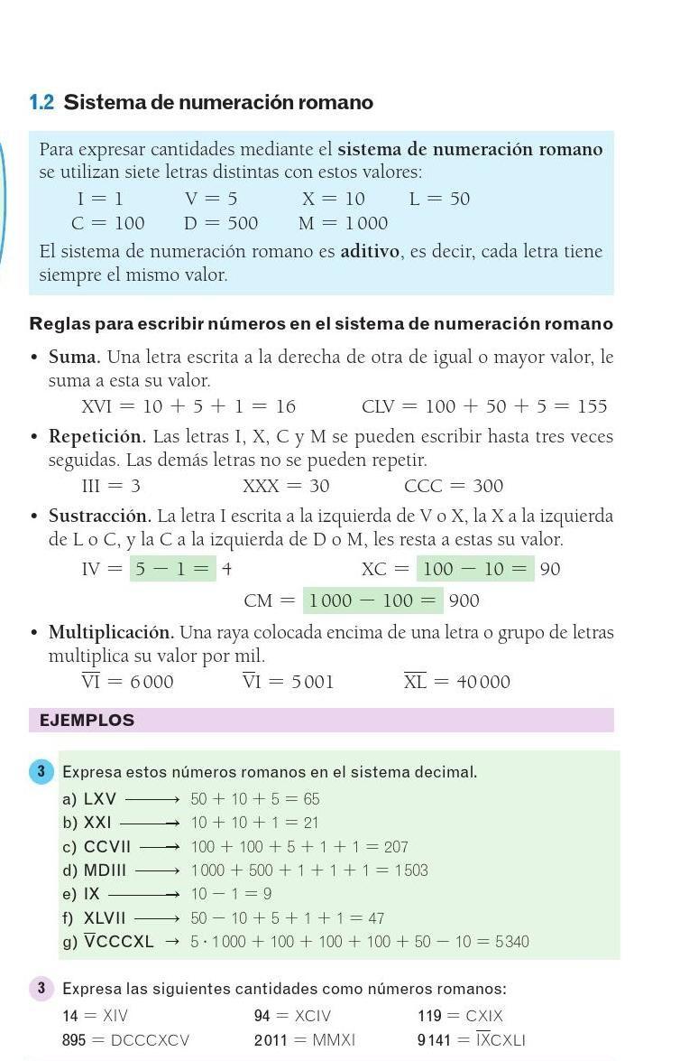 Mates 1ºeso Avanza Santillana Matematicas Recta Numerica 2do