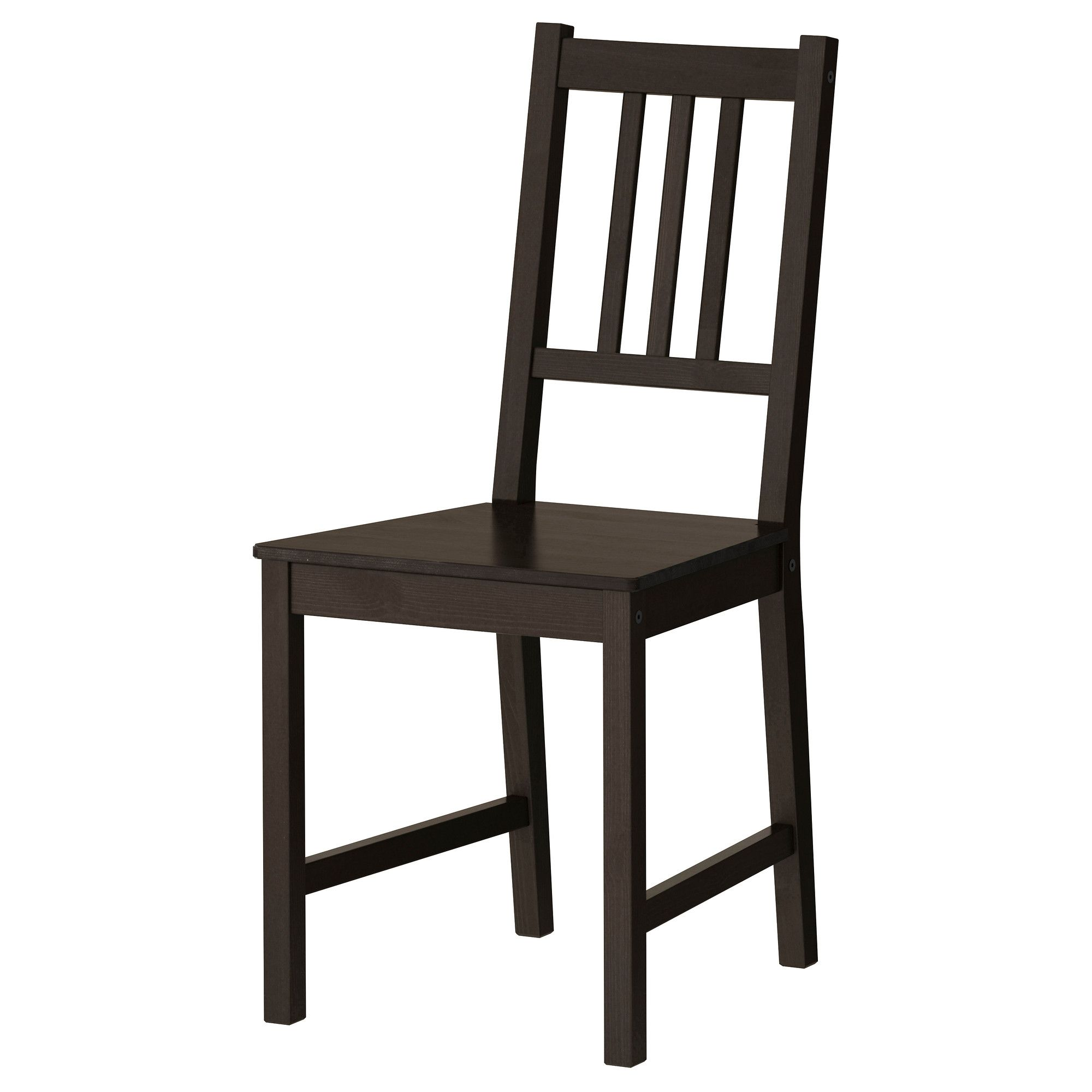 Ikea Wooden Chairs Folding Chair Covers Near Me Stefan Brown Black Mickey S Place Pinterest