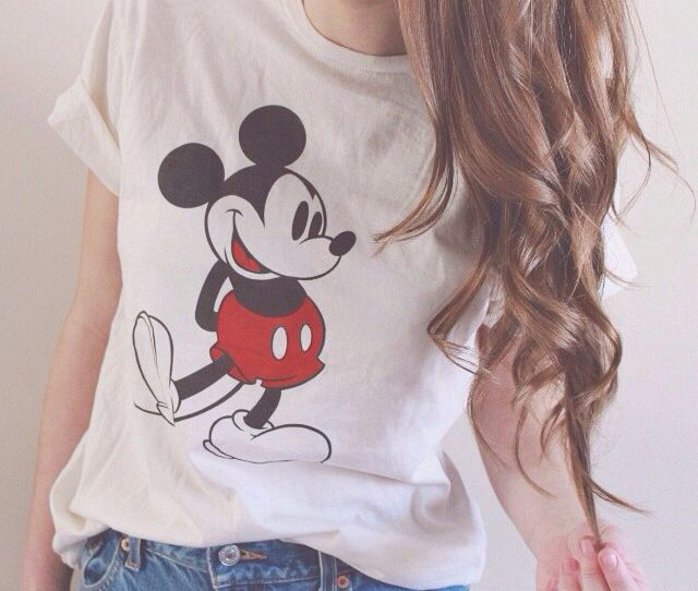 2dfed2ba Womens Classic Mickey Mouse Pose T-Shirt - The Shirt List | Basic in ...