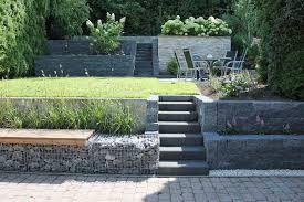 bildergebnis für gartengestaltung hanglage gabionen, Garten und erstellen