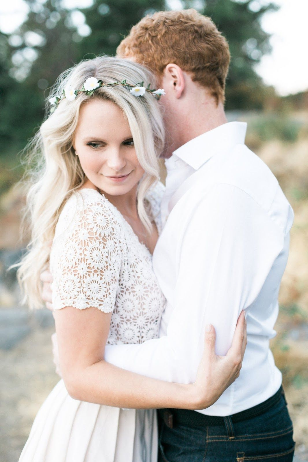 Our engagement photos part ii vintage lace flower crowns and boho