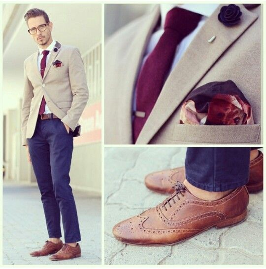 Blue, Burgundy, and Brown via Top Shop South Africa