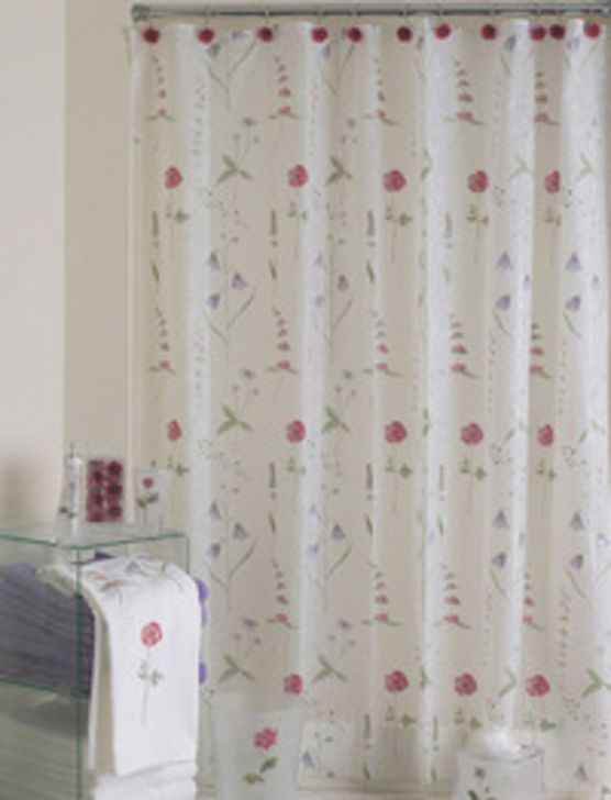Poppies Shower Curtains Clean And Simple Curtain Design With Straight Flowers