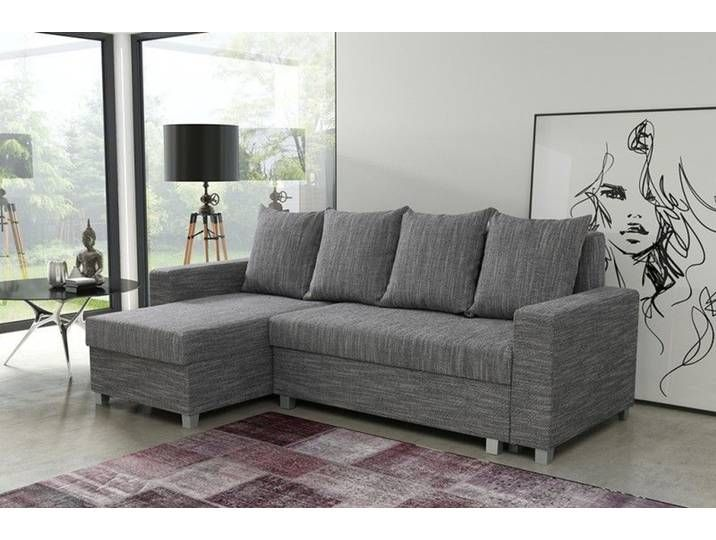 Schlafsofa Sofa Couch Ecksofa Eckcouch Hellgrau Schlaffunktion Luanda Sofa Home Decor Furniture