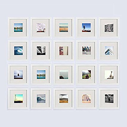 Amazon.com - 3-set, Tiny Mighty Frames - Wood, Square, Instagram ...