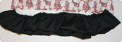 A folded over ruffle on a pillow case dress.