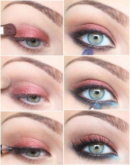 tutorial de maquillaje con sombras colores pastel