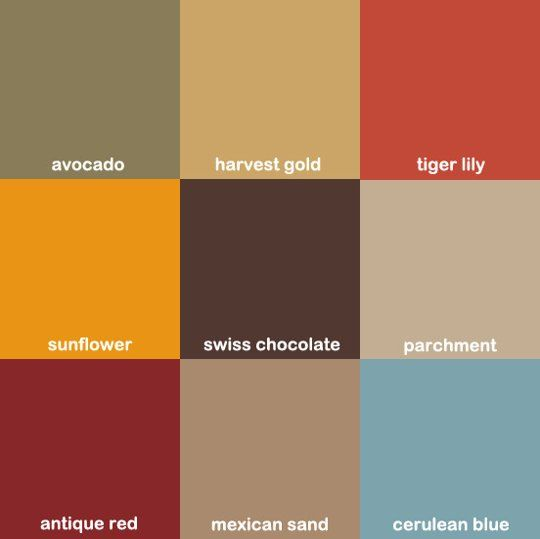 Earth Tone Kitchen Colors: Design Flashback: The Colors Of The 70s