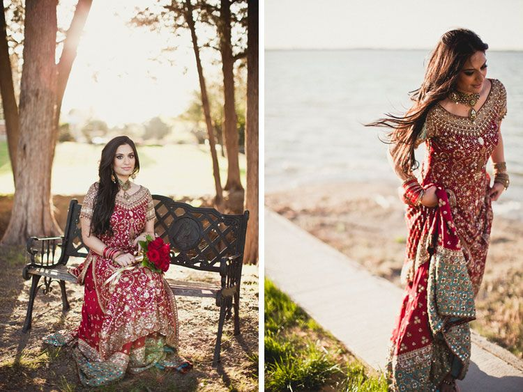 Red And Gold Pakistani Wedding Dress By Bunto Kazmi Bridal