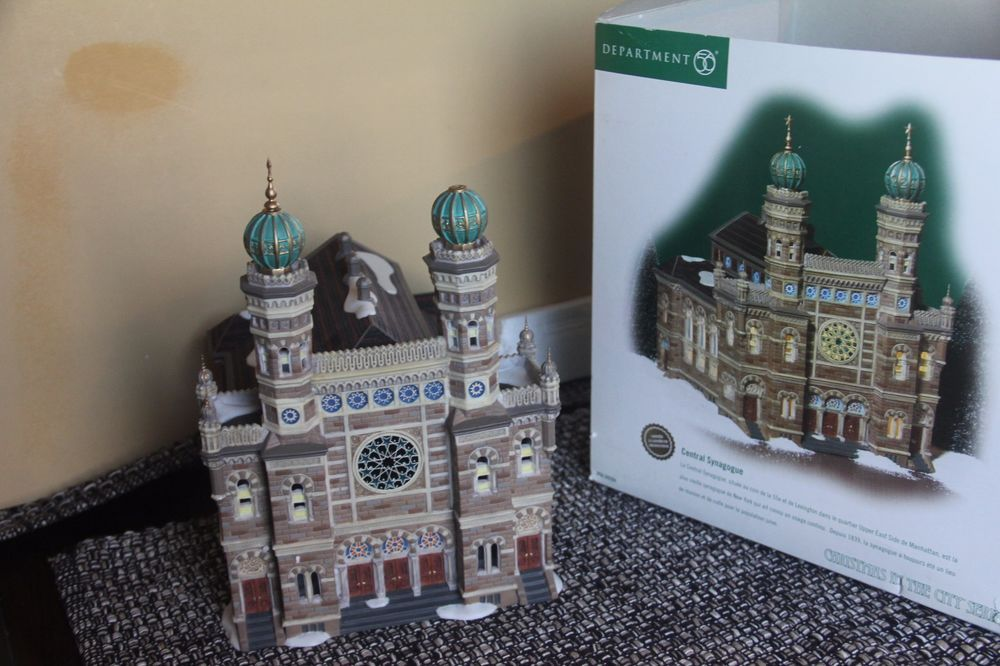 DEPT 56 CHRISTMAS CITY CENTRAL SYNAGOGUE HOLIDAY 59204 CHURCH RELIGIOUS TEMPLE