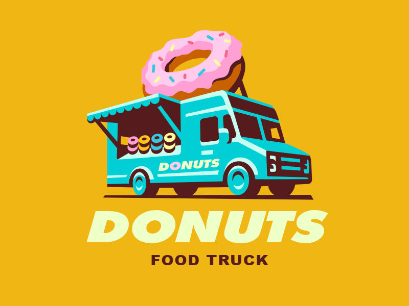 Food Truck Food Truck Design Logo Food Logo Inspiration Logo Food