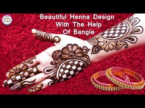 Beautiful 3d Arabic Henna Designs With The Help Of Bangle Henna