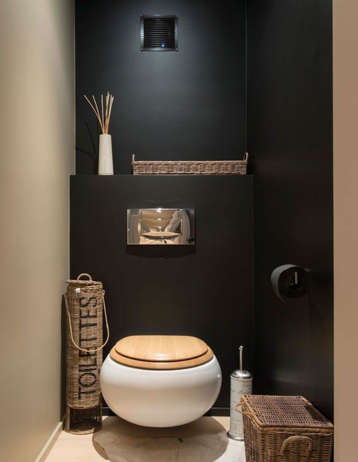 Awesome deco wc noir gallery design trends 2017 for Deco wc noir