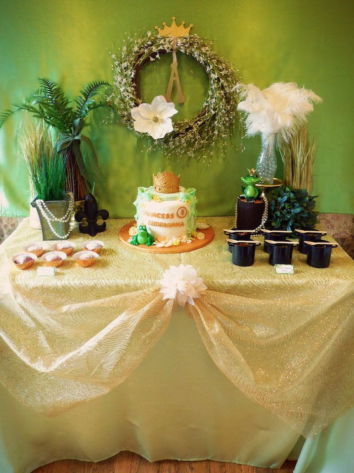 charming Princess And The Frog Decoration Ideas Part - 11: Princess and the Frog Birthday Party via Karau0027s Party Ideas .com I  KarasPartyIdeas.com #PrincessAndTheFrog #PrincessParty #DisneyPrincessParty  #PartyIdeas ...