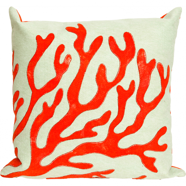 Liora Manne Red Coral Throw Pillow//