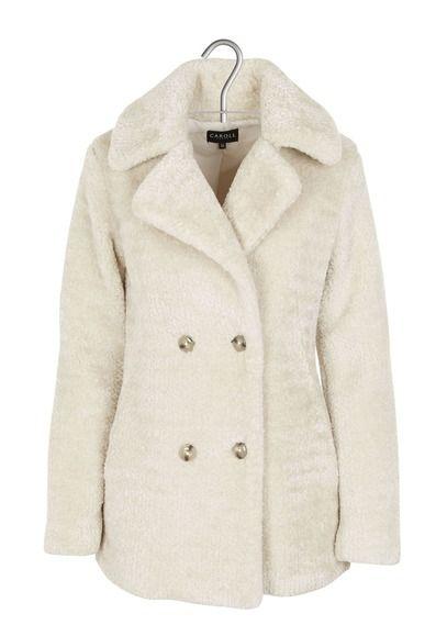 Manteau Blanc By Douceur Caroll Fausse Shaun Croisé Fourrure 41wqUp6w 99193e0f8a5