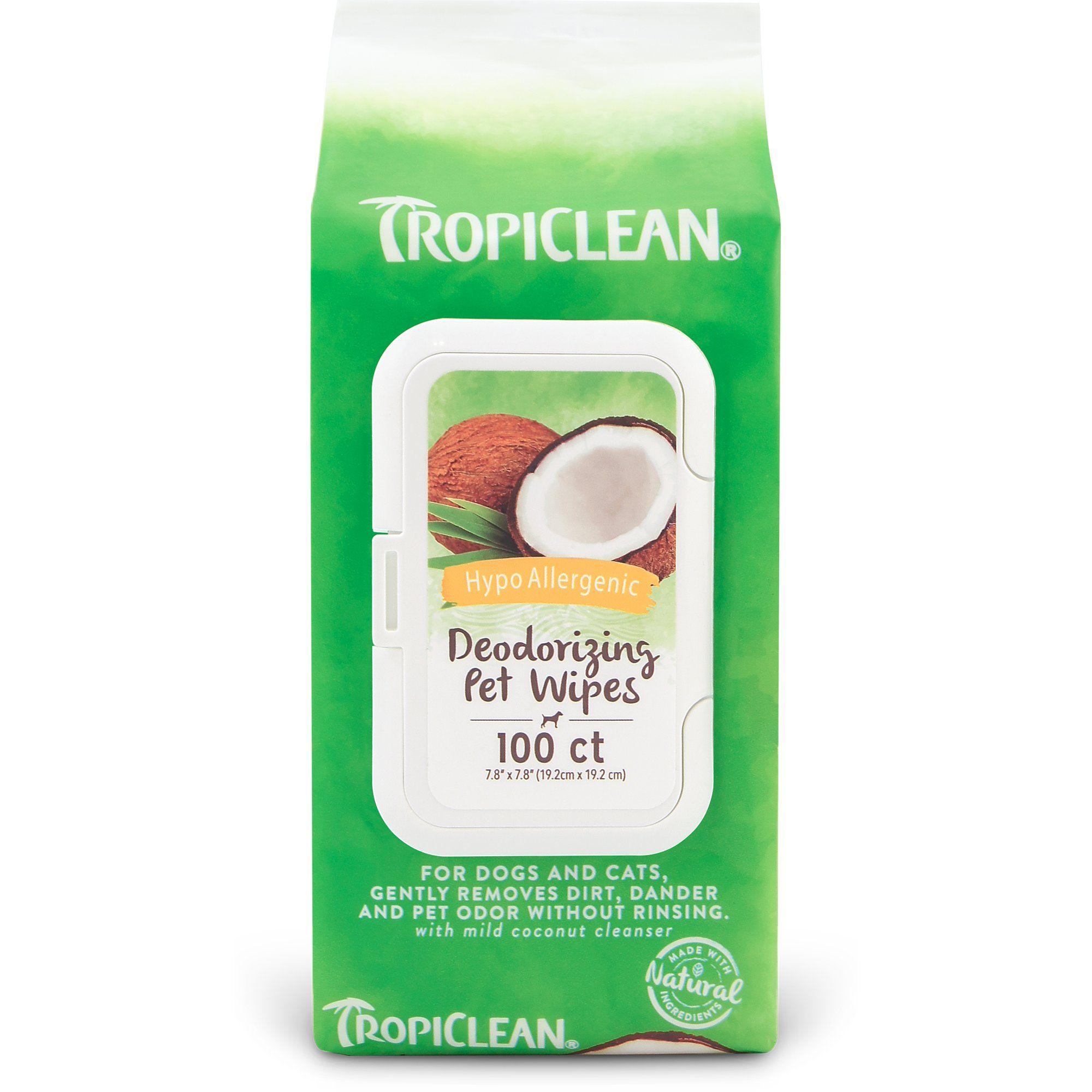 Tropiclean Hypoallergenic Dog Wipes 100 Count Gluten Free