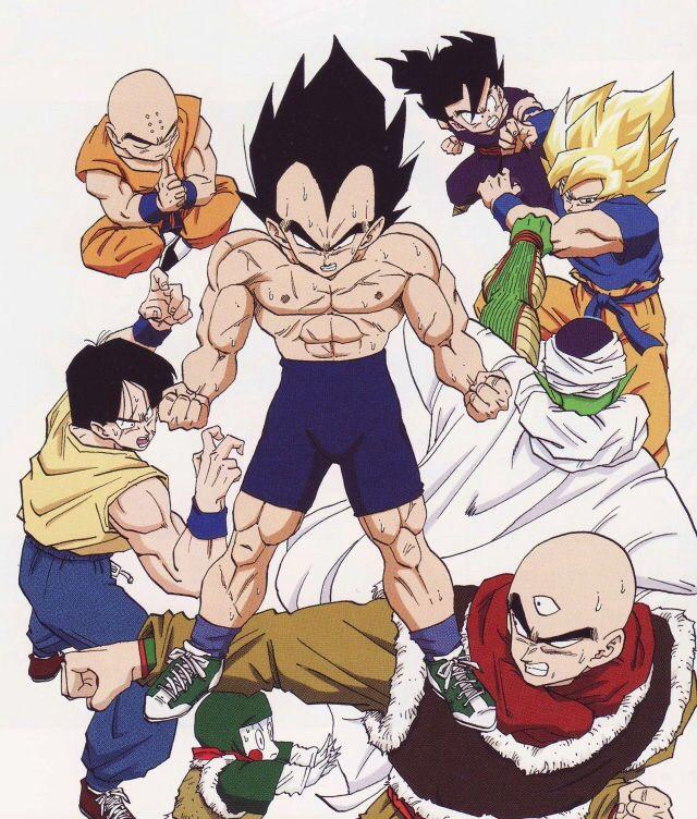 Vegeta Goku Gohan Krillin Tien Chiaotzu Yamcha And Piccolo Dragon Ball Artwork Dragon Ball Art Anime Dragon Ball Super