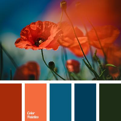Color Palette #1550 | Blue colour palette, Orange color ...