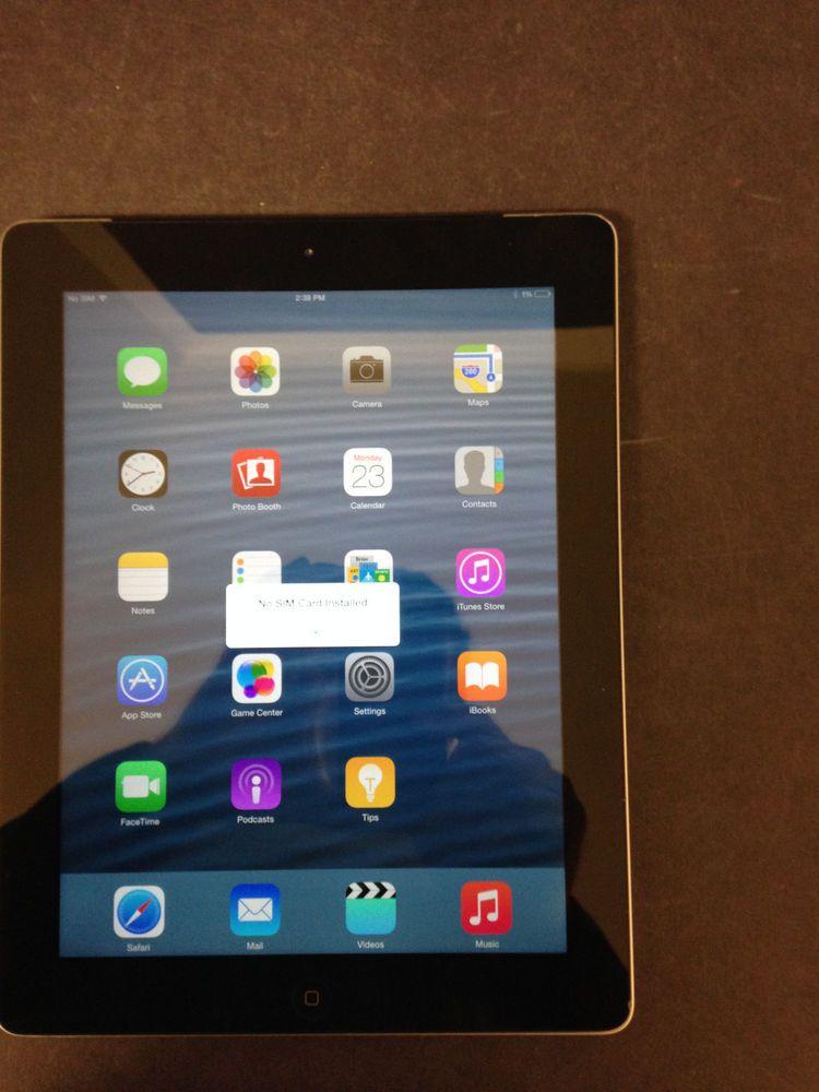 Apple Ipad 3rd Generation Md416ll A 16gb A1430 Wi Fi Tested Working Apple Ipad Ipad Apple Ipad 1