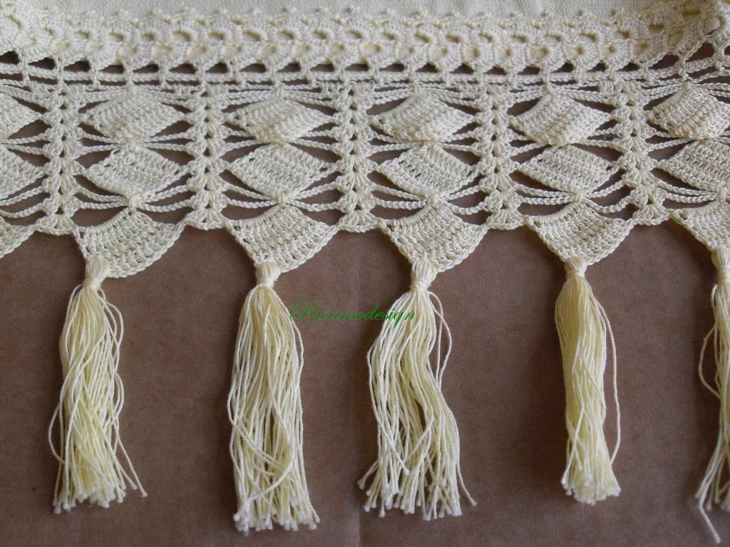 Tende lino e uncinetto per cucina buscar con google cortinas crochet pinterest - Tende in lino per cucina ...