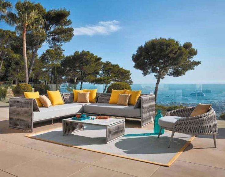 Salon de jardin haut de gamme. Sun mobilier Bordeaux lac ...