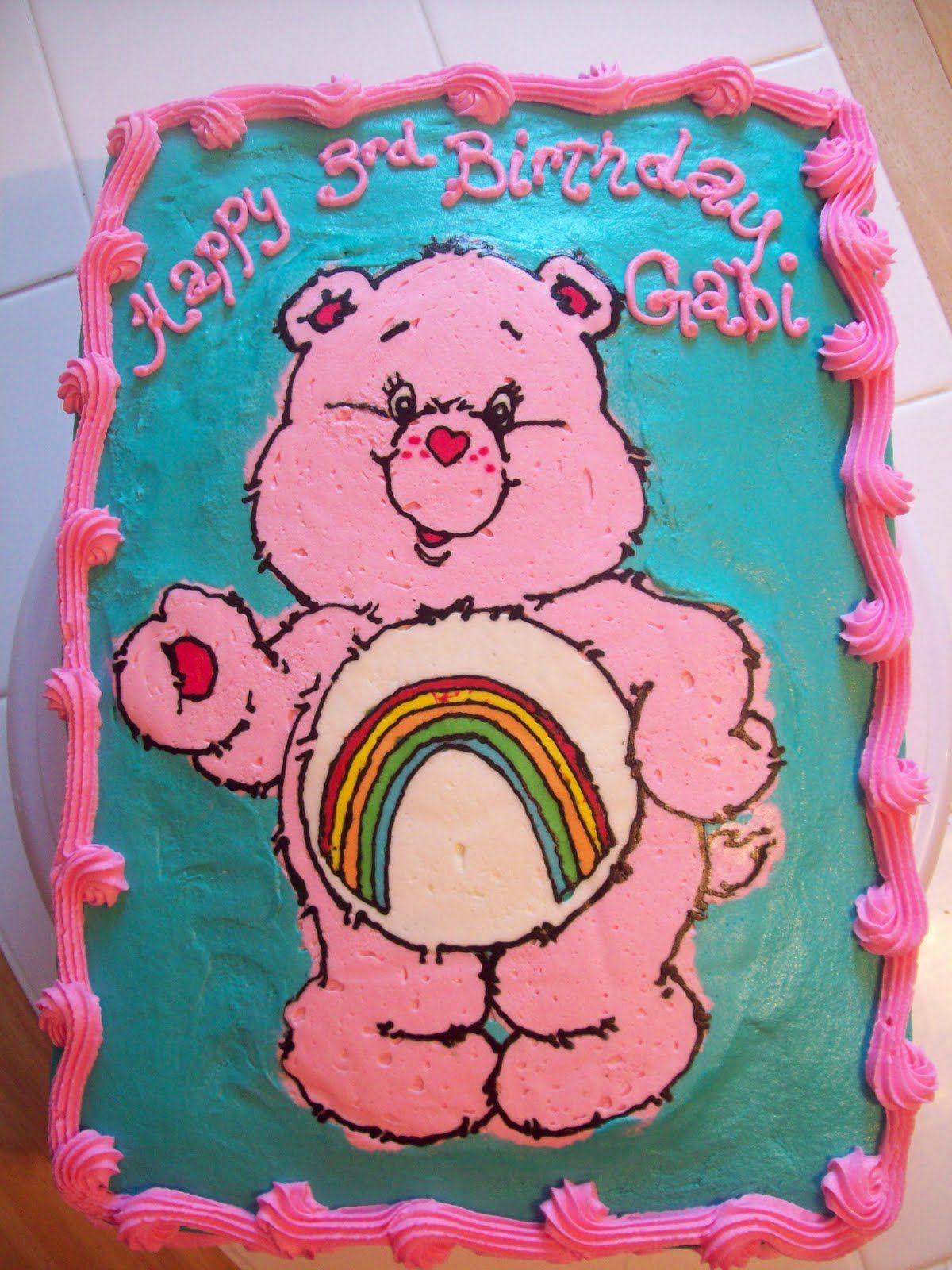 Care Bear Cake Cakes Pinterest Care Bear Cakes Bear Cakes