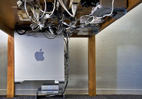 Home Office Cable Management: Desk: Part 2 -> Underneath Cable Management