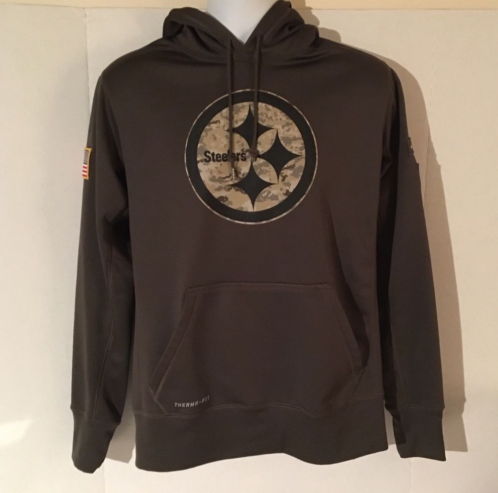 bef8ab9d530 Pittsburgh Steelers Salute To Service Hoodie Hoody NFL Therma Fit Nike   Nike  PittsburghSteelers