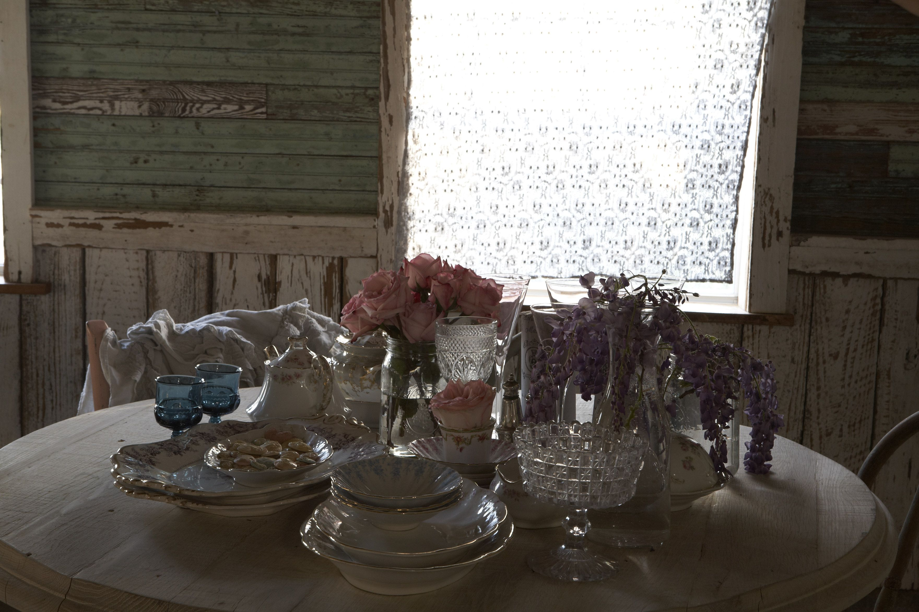 Tea Time Awww Our Sweet Breakfast Table Chic Home Decor Vintage Farmhouse Decor Shabby Chic Homes