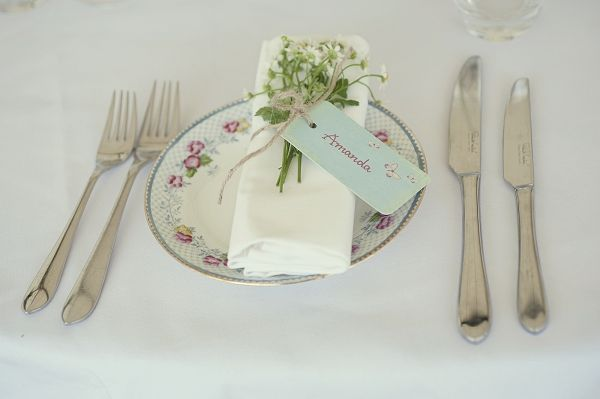 vintage wedding place setting, English country place setting