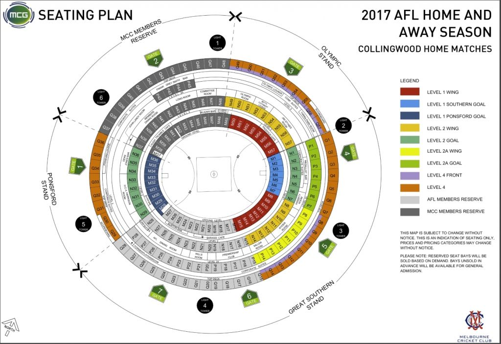 Mcg Virtual Seating Plan