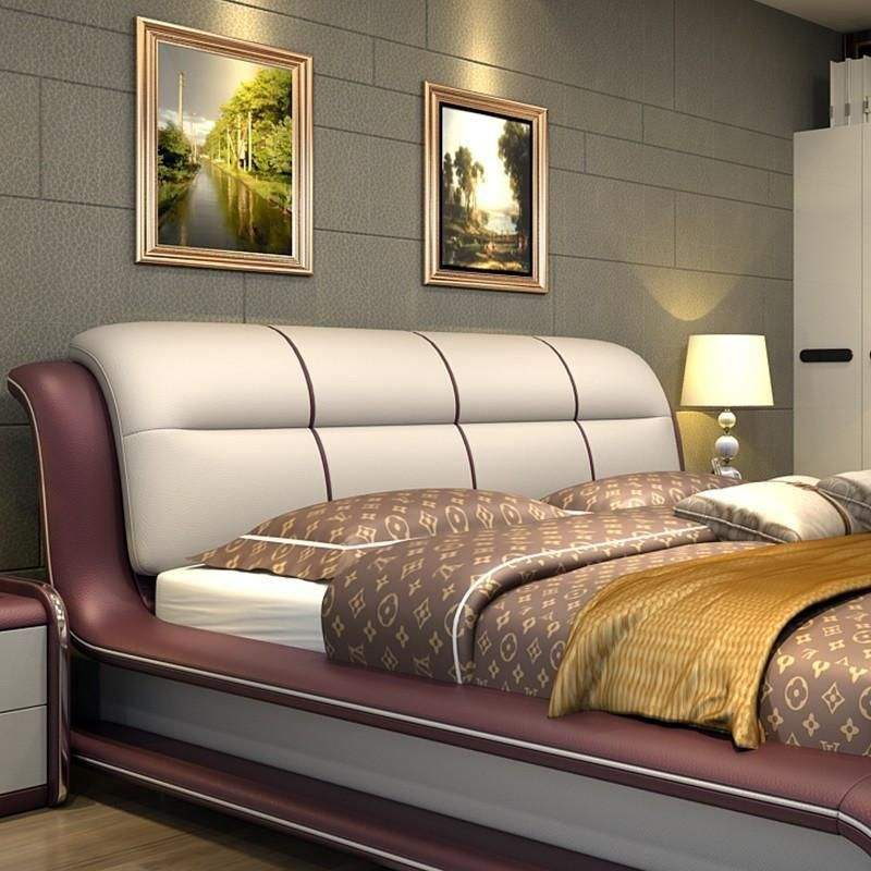 Best Bed Genuine Leather Bed Only With Storage Modern 400 x 300
