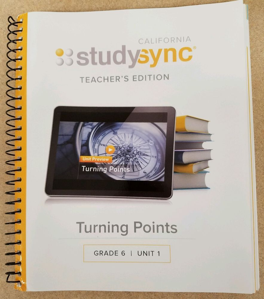 California Studysync Grade 6 Unit 1 Pacing Guide Teacher's Edition  #TeacherEdition