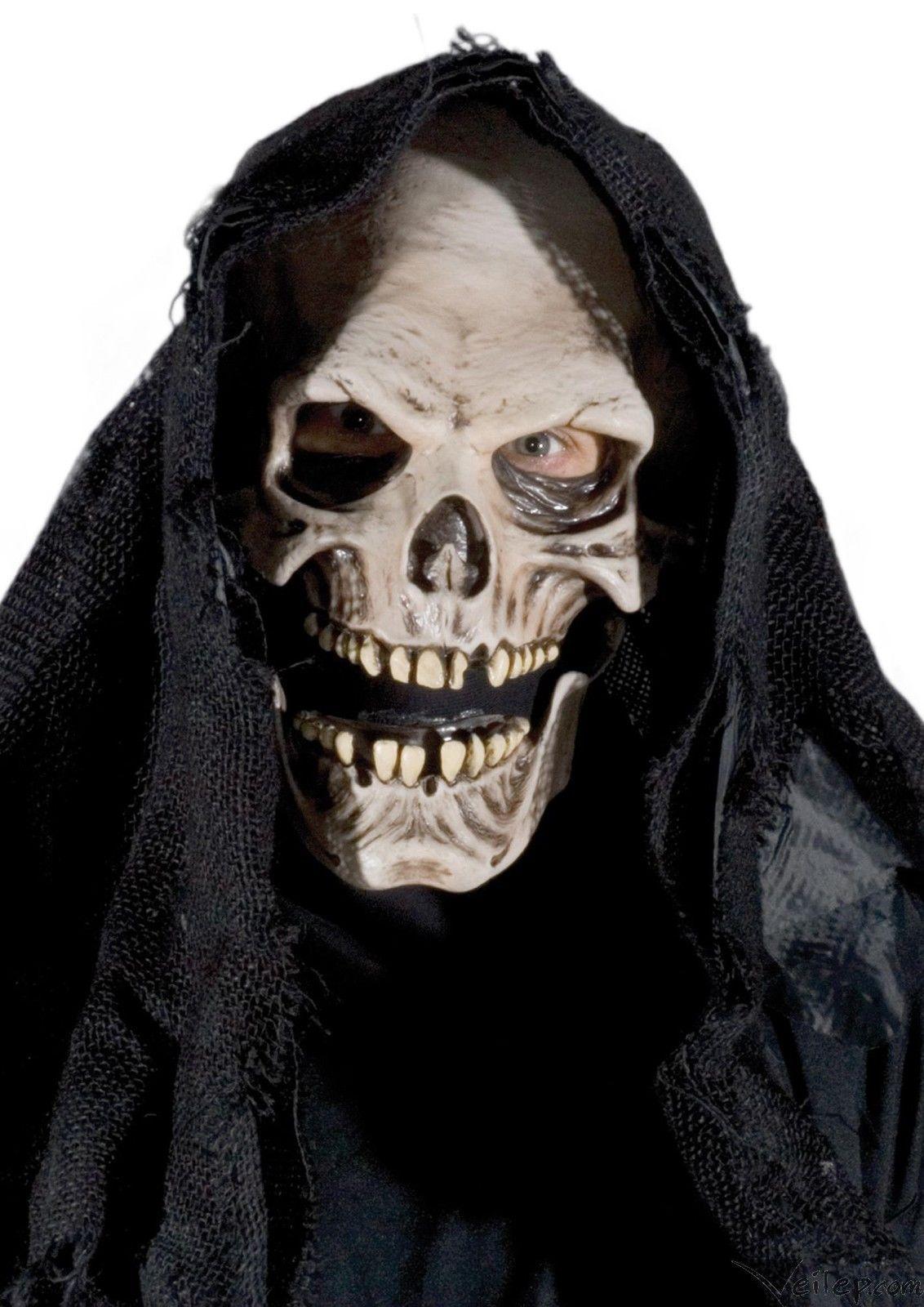 Zagone Grim Reaper Full Head Mask, White, One Size eBay