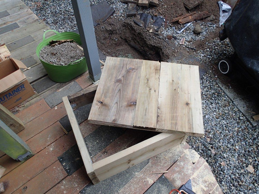 diy wooden septic tank riser cover